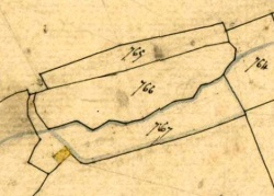 cadastre 1834, le ruisseau et son bief, section de Squividan, feuille 3